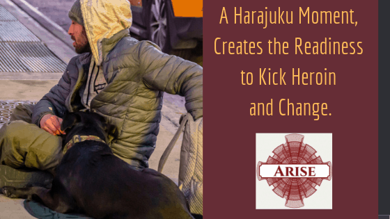 Blog post header explaining what a Harajuku Moment is, and how Arise Recovery Coaching in NYC can help you find yours.