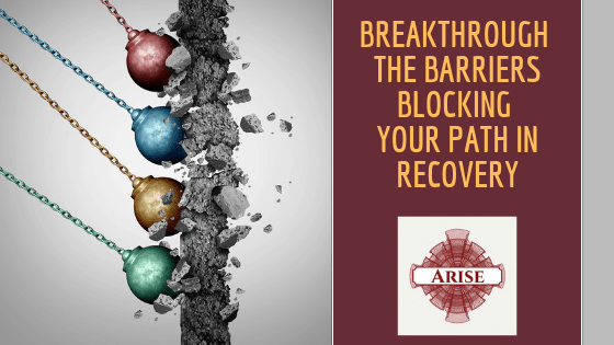 Blog post header learn how arise recovery coaching in nyc can help you breakthrough your roadblocks keeping you from finding fulfillment in recovery