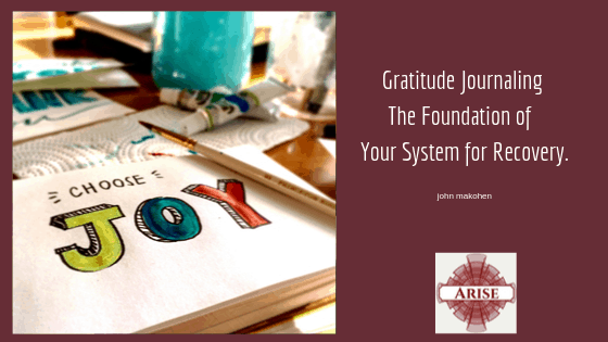 Blog Post header: Gratitude Journaling The Foundation of Your System for Recovery.