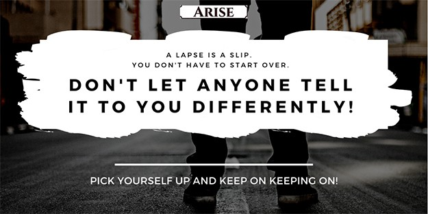 Tweet image : A lapse is just a slip so use your coping skill emergency plan for long-term recovery