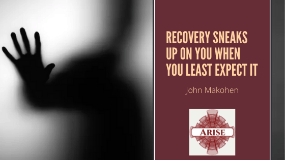 Blog post banner for Recovery Sneaks Up on You even when you least expect it.